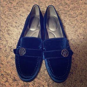 Bandolino flats. Royal blue velvet.